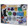 Kids Beyblade Spining Tops New Metal Fight Fusion Top Rapidity Fight Master Rare Beyblade 4D Launcher Grip Set