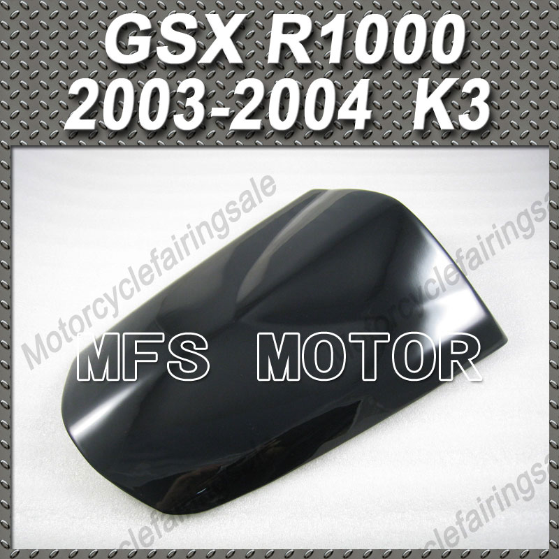 For GSX R1000 K3 Motorcycle Rear Pillion All Black Injection ABS Seat Cowl Cover For Suzuki GSX R1000 K3 2003 2004