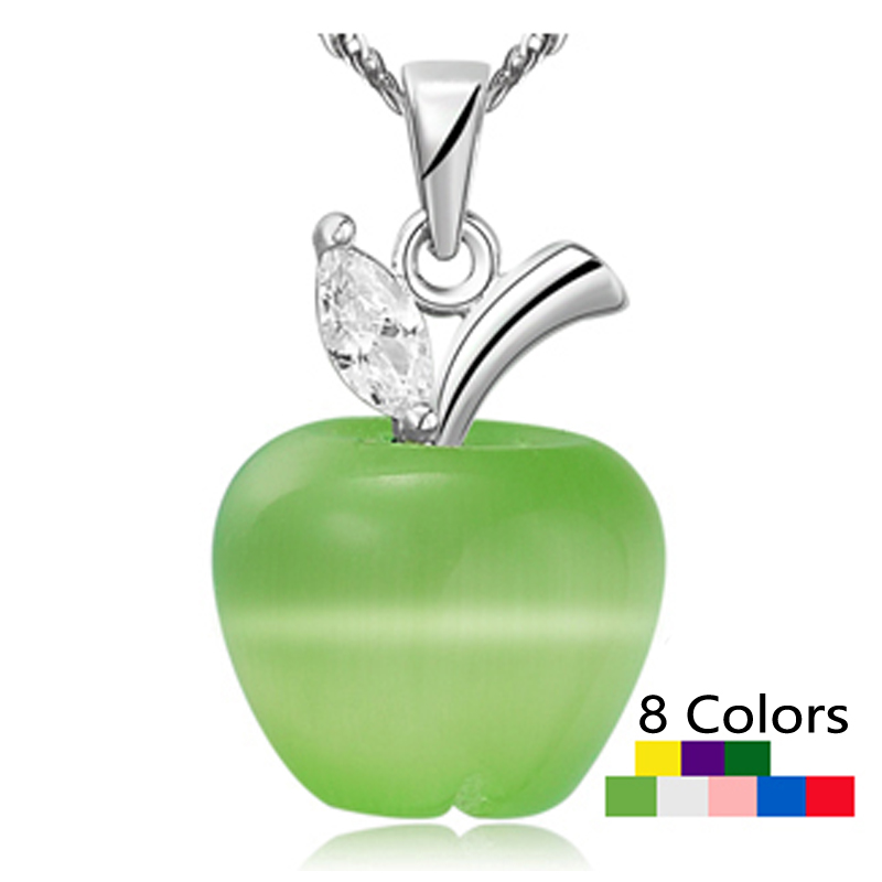 Cat's Eyes Jewelry Opal Apple Pendants Women Fashion 8 Colors christmas gifts - CRYSTAL BEADS store
