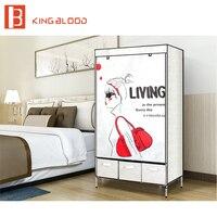 Customized foldable armoire wardrobe cabinet