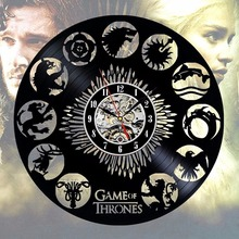 CV Game of Thrones Stark Khaleesi Design Wall Clock