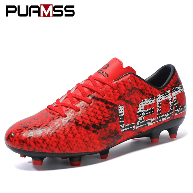 5a69aa973 2018 New Boy Kids Men Soccer Cleats Boots Turf Football Soccer Shoes Hard  Court Outdoor Sneakers Trainers Adults Sport Shoes