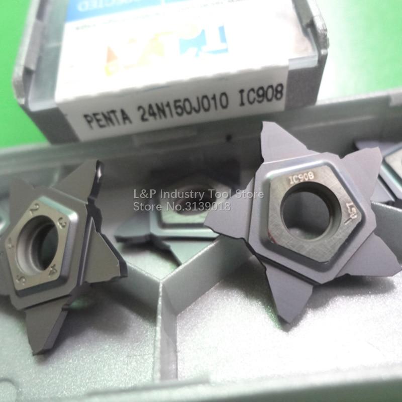 5 PCS ISCAR PENTA 24N150J010 IC908 INSERT