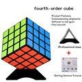 Cubo mágico 4x4x4 Velocidade Cube Puzzles Cubos Mágicos Mágica Brinquedo Clássico Brinquedo de Plástico Transparente Aprendizado & educação Para O Presente das crianças