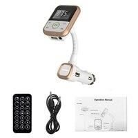 Top Vota Wireless Bluetooth Car Kit Trasmettitore FM Con USB Lettore MP3 caricatore USB di Sostegno SD Card + 3.5mm line-in jack