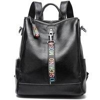 Women 100% Genuine Leather Backpack High Quality Youth Backpacks for Teenage Girls Female School Shoulder Bag Bagpack