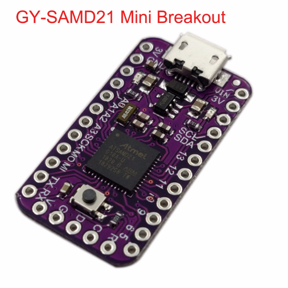 GY-SAMD21 SAMD21 Mini Breakout Sensor Module Pro Mini-sized For Arduino IDE Atmel ATSAMD21G18,32-bit ARM Cortex-M0 FZ3482