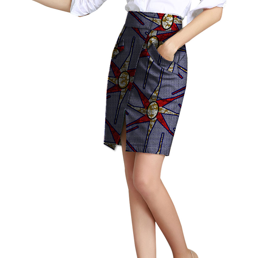 Customized Women African Skirt Elegant Dashiki Skirt Ladies Africa Wax Print Element Festival Outfiit