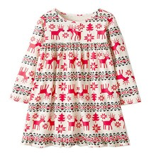 Long Sleeve Unicorn Dress Baby Girls Clothes 2019 Brand Winter Kids Dresses for Girls Animal Applique Princess Dress Christmas все цены