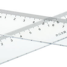 1PC Transparent Plastic Straight Ruler 20 30 40 50cm Teaching Tools Student Drawing Measuring Rulers Office Supplies