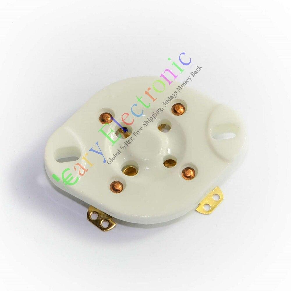 Оптом и в розницу 60 шт. 4pin Золото Шасси гнездо Керамическая вакуумная трубка Серебро U4A Для 300B 811 45 71A бесплатная доставка