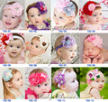 The new head flower / Child lace hair band / baby lace flower headband / free shi...