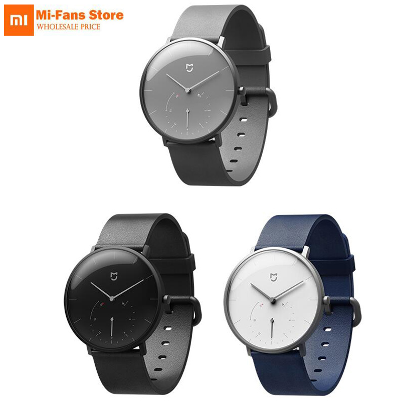 Original Xiaomi Mijia Waterproof Quartz Watch Smart Band Pedometer Automatic Calibration time Vibrate reminder Stainless Cover