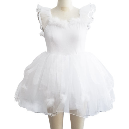 Girl Kids Wedding Dress Dress Ballet Dance Clothes Professional Ballet Tutu Long Skirt White Swan Lake Ballet Costumes For Women