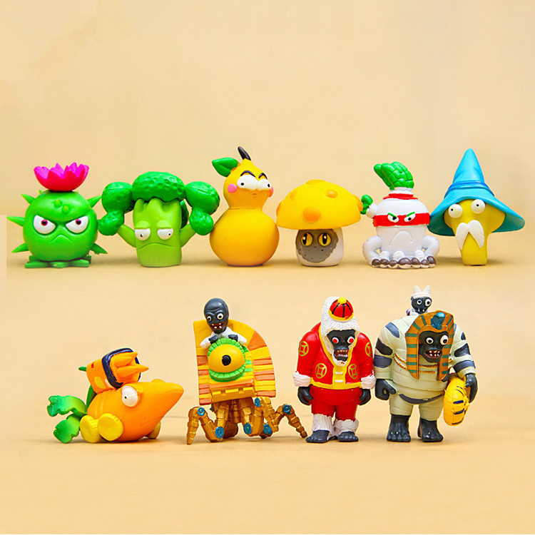 10pcs/set Game figures Plants vs Zombies 2 : Its About Time PVC Toy Figure Plants Zombies Toys Figure model baby kids gift toy