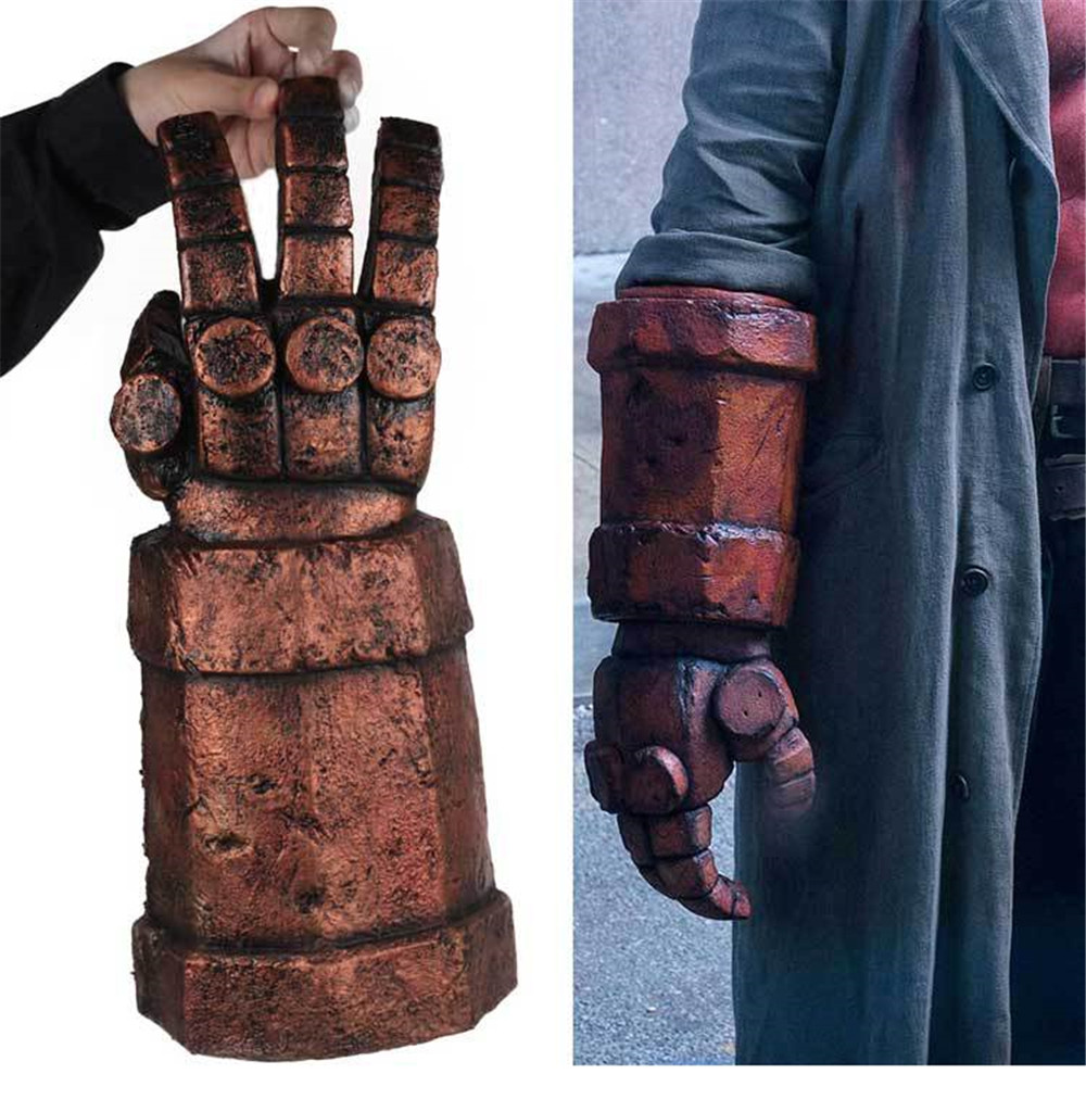 Hellboy Right Hand Of Doom Cosplay Hellboy Blood Rise Of The Queen Costume Accessory Hellboy Arm Gloves Halloween Party Prop DRP