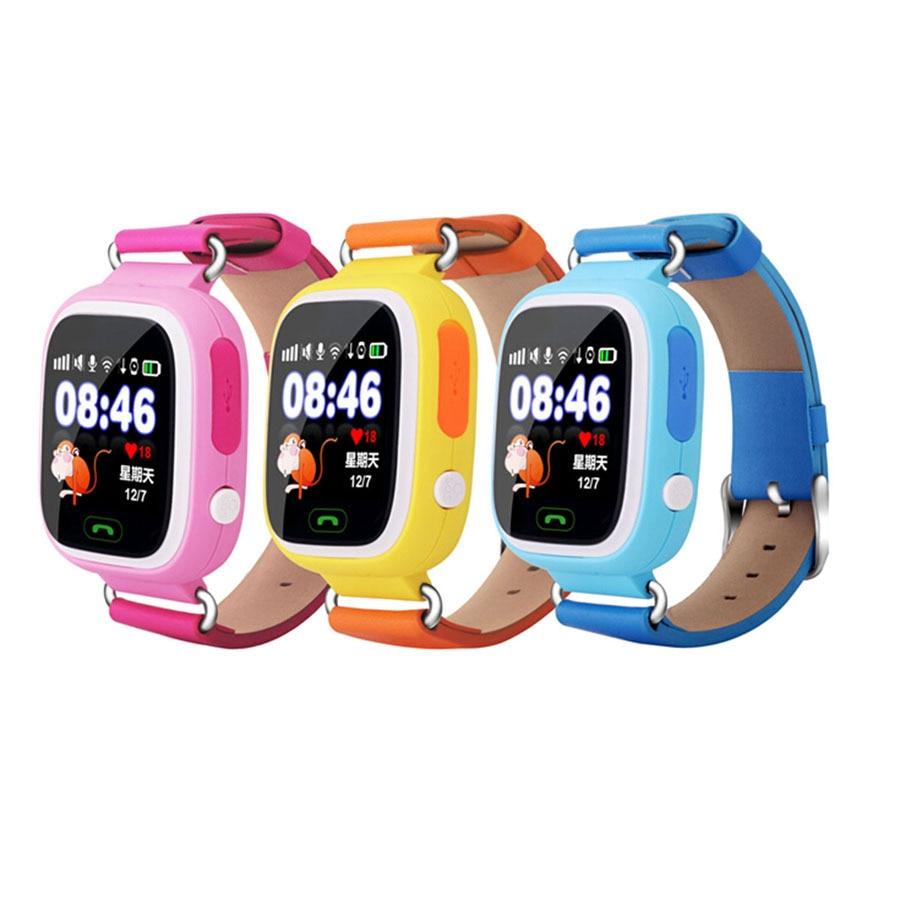 Q90 GPS Enfant Montre Smart Watch Écran Tactile Wifi Positionnement Bébé Kid Smartwatch Pour IOS Android Enfants Kids Safe Anti- perte Montres