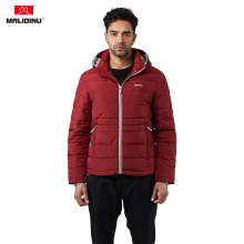 MALIDINU 2019 Men Down Jacket Winter Coat White Duck Hooded Parka Sport For Man -30C