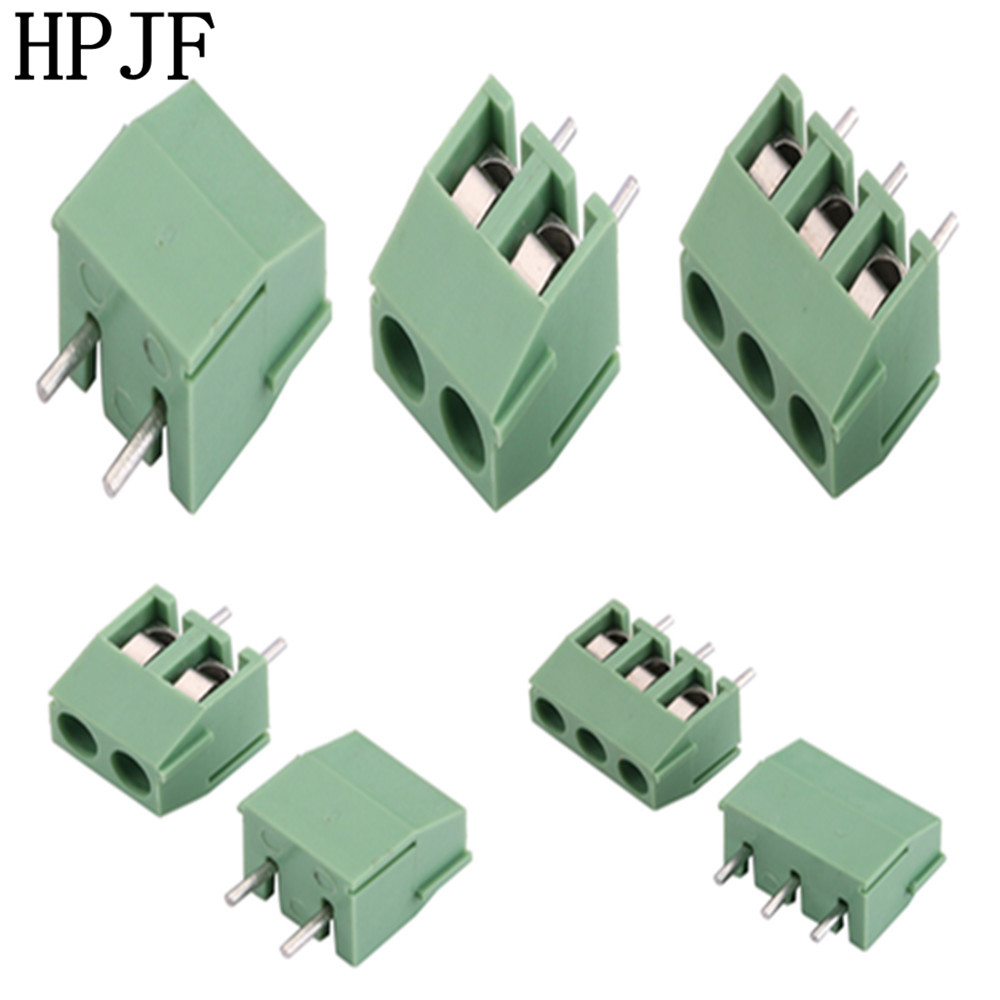 15 pcs 3pin//way Pitch 3.5mm Screw Terminal Block Connector Green Color Pluggable Type with straight-pin