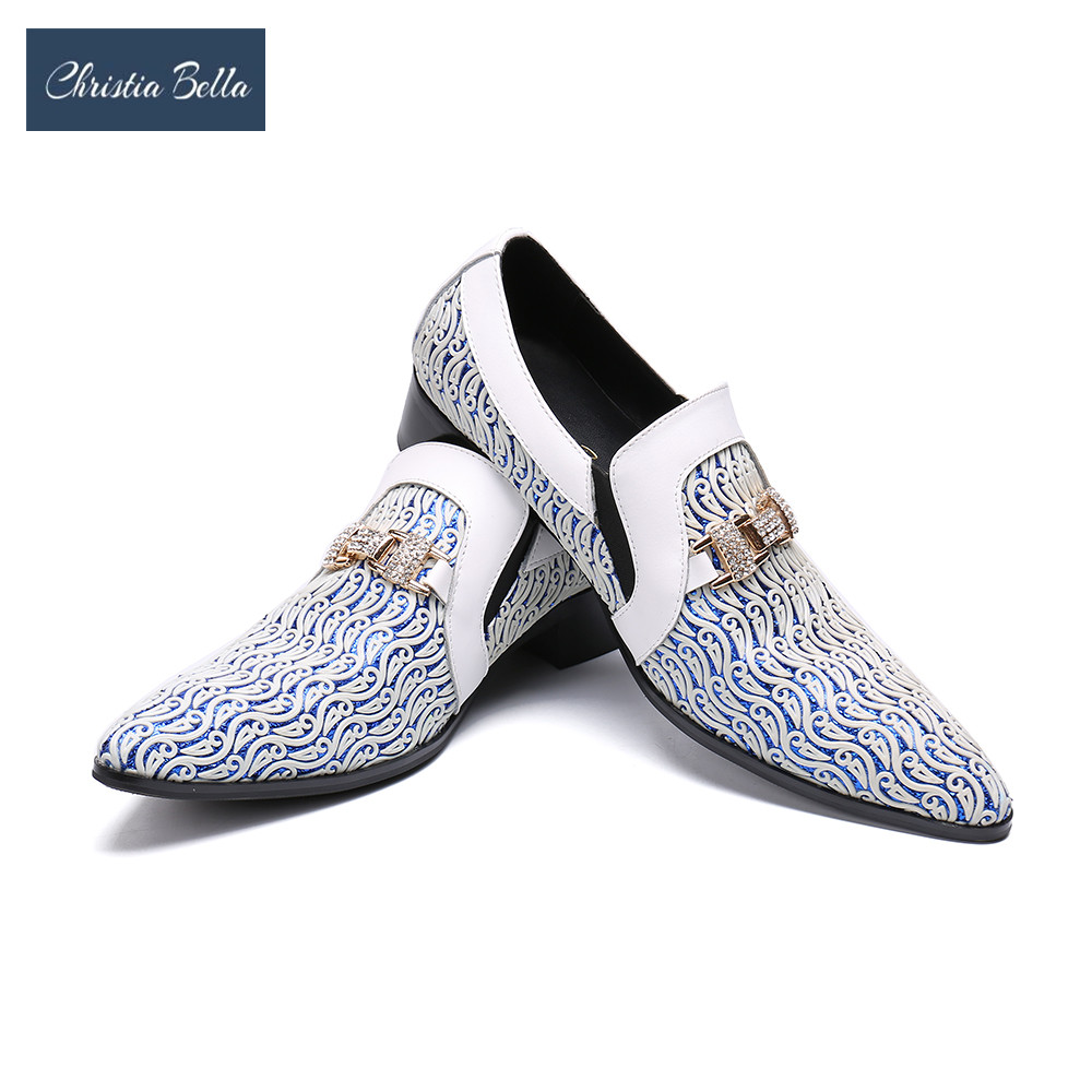 Christia Bella italien Oxford chaussures hommes marque de luxe chaussures formelles hommes bout pointu chaussures habillées classiques Derbies chaussures de mariage