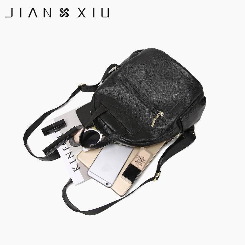 couro genuíno mulheres sacolas de Backpack Popular Elements : Solid Color