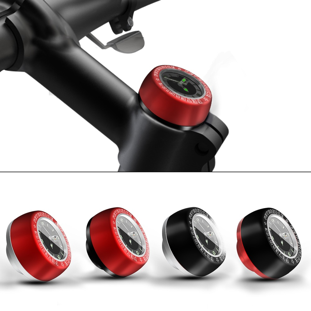 Bicycle Headset Stem Watch Computer Bike Vehicle Clock Cycling Head Parts Timepiece Headset Top Cap Stem Cover For MTB Part in Bicycle Headset from Sports Entertainment