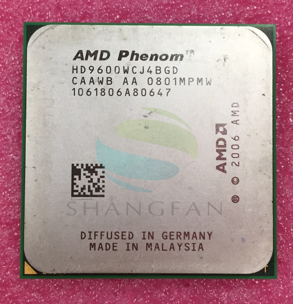 AMD Phenom X4 9600 Quad-Core DeskTop 2.3GHz CPU HD9600WCJ4BGD HD960BWCJ4BGH HD960ZWCJ4BGD Socket AM2+/940pin