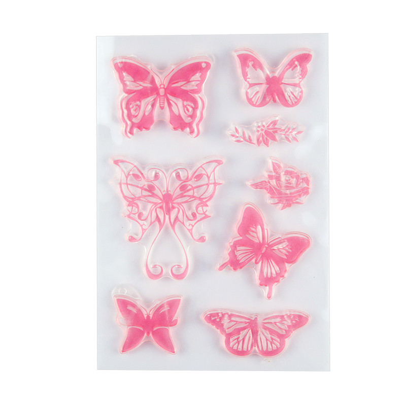 Kinds of Butterfly Designs Transparent Clear Stamp Seal for Scrapbooking Photo Album Diary Card Making DIY Decoration Supply. angel and trees clear stamp variety of styles clear stamp for diy scrapbooking photo album wedding gift cl 163