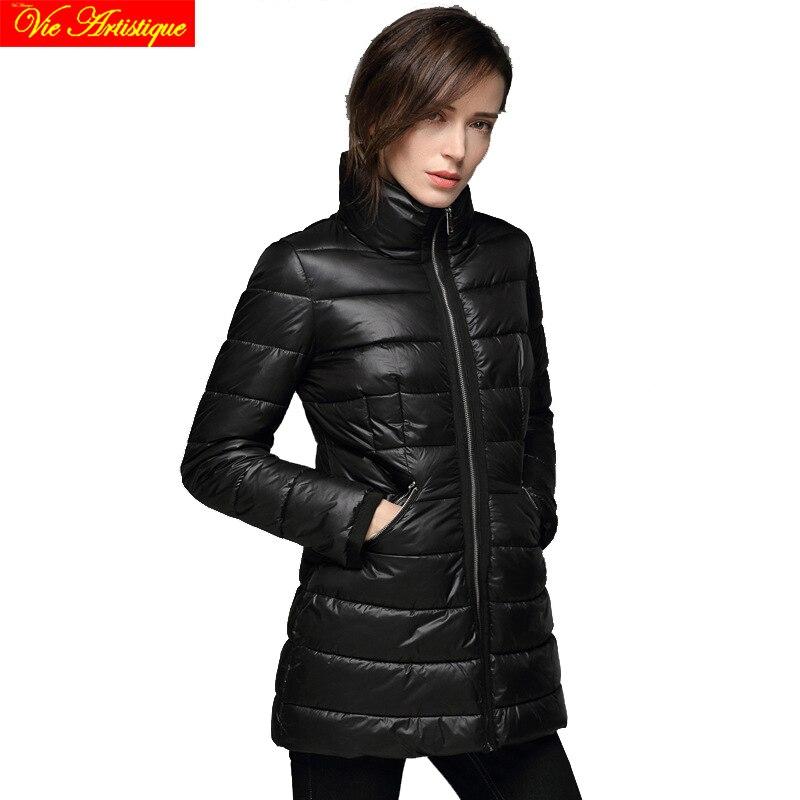 office lady winter jacket woman parka fem me womens long coats jackets big size beige black wine jazzevar miegofce 2018 VA