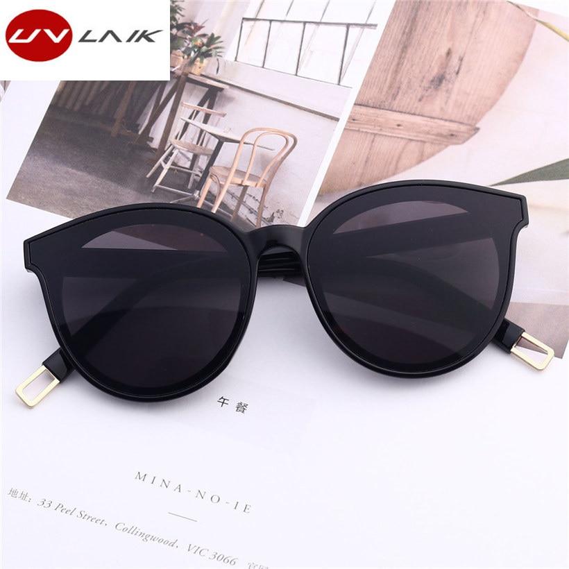 UVLAIK Women Sunglasses Goggles Oversized Female Vintage Designer Fashion-Brand Eyewear