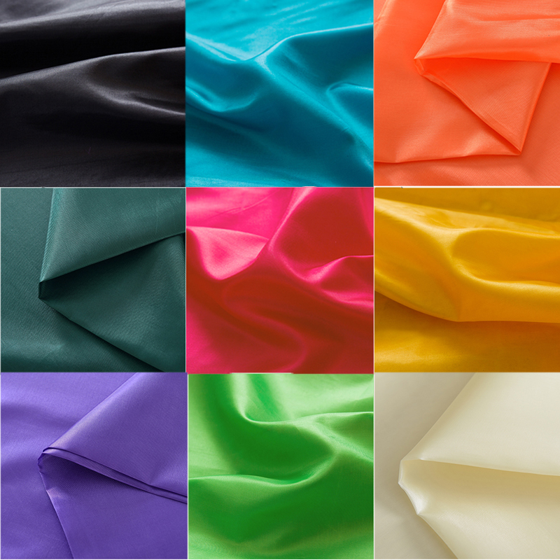 1.50(width)*2m 19Colors Imitate Silk Satin Fabric Sewing Cloth lining Wedding Party Decoration Kids Bedding Pajamas Home Textile