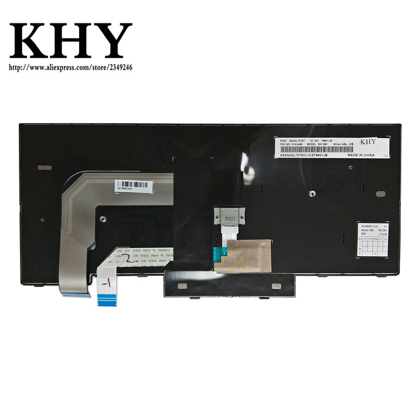 Image 2 - Original US Keyboard For ThinkPad A475 A485 T470 T480 PN 01HX339 01HX379 01HX299 01HX328 01HX368 01HX408 01AX364 01AX405 01AX446-in Replacement Keyboards from Computer & Office on