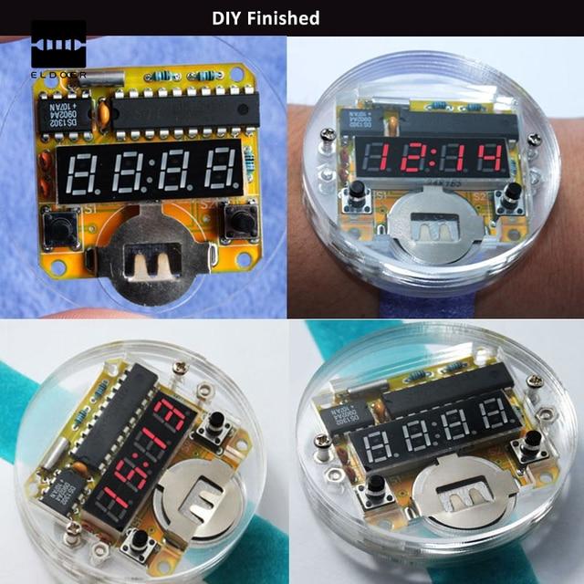 d572575c0aab Nueva 4 bits kit DIY LED reloj digital reloj electrónico microcontrolador  MCU DIY reloj rojo mostrar