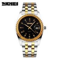Men Business Quartz Watch SKMEI Luxury Brand Fashion Watches Analog Quartz Watch 30M Waterproof Relogio Masculino
