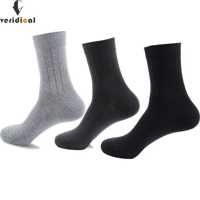 Veridical 5 Pairs/Lot Combed Cotton Business Socks Mans Solid Brand Gentleman Short Work Socks Black Party Dress Long Socks