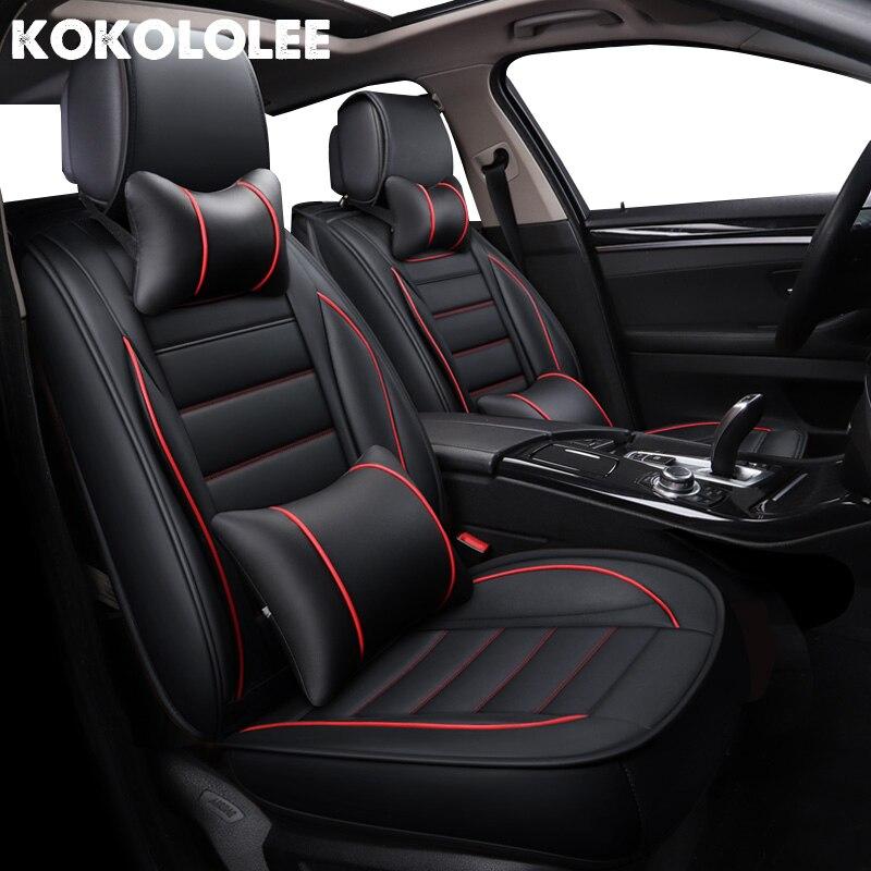 Kokololee Seggiolino Auto Pelle Copre per kia rio 3 lada kalina bmw f10 toyota corolla skoda rapid Automotive sedili copertura auto-style