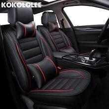 Kokololee кожаные чехлы для сидений автомобиля для kia rio 3 lada kalina bmw f10 toyota corolla skoda rapid автомобильных сидений покрытие автомобиля -стиль