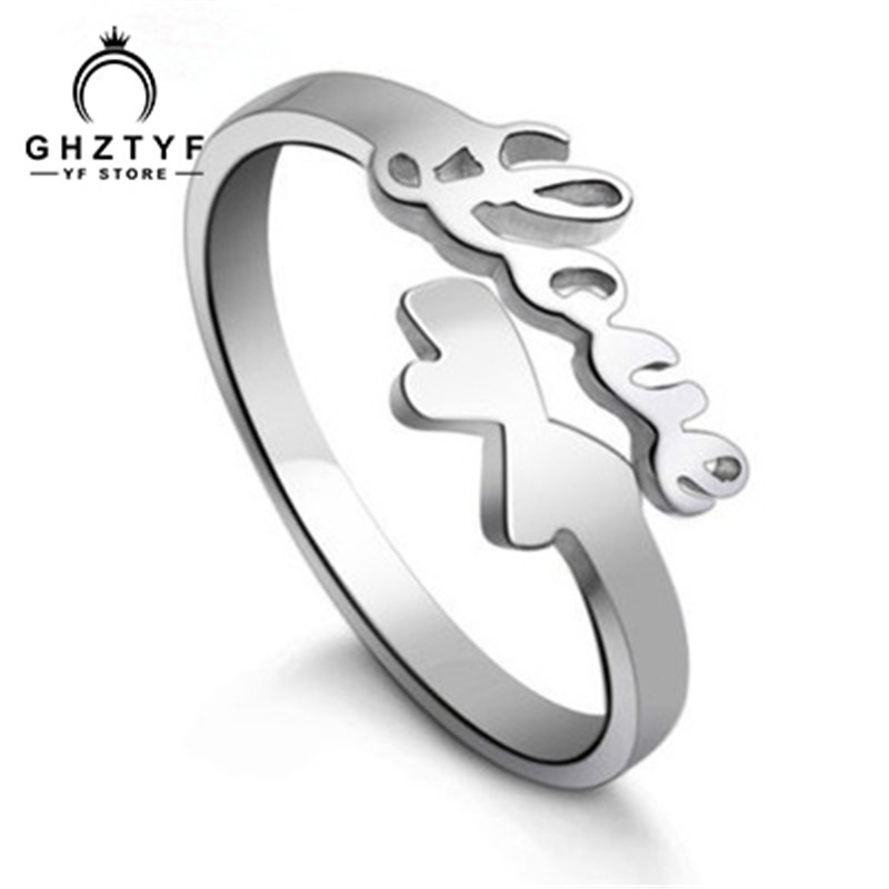 Women Fashion Opening Love Ring Silver Plated Jewelry Wedding Engagement Bride Bridesmaid Glamour Jewellery Love Gift GHZTYF