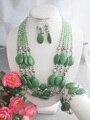 Livre o navio!!! Z-5517 Elegante Handmade Natural Turquesa Beads Jewerly Set Para O Casamento