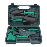5Pcs/set Garden Hand Tool Set Shovel Rake Clippers Household Multifunctiona Kit with Case LXY9 OC10