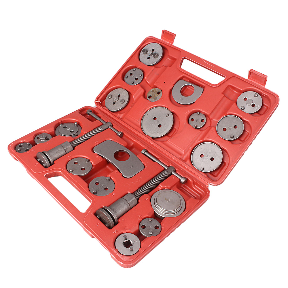 Universel 21 pièces disque frein étrier Piston Pad voiture Auto vent arrière main trousse à outils