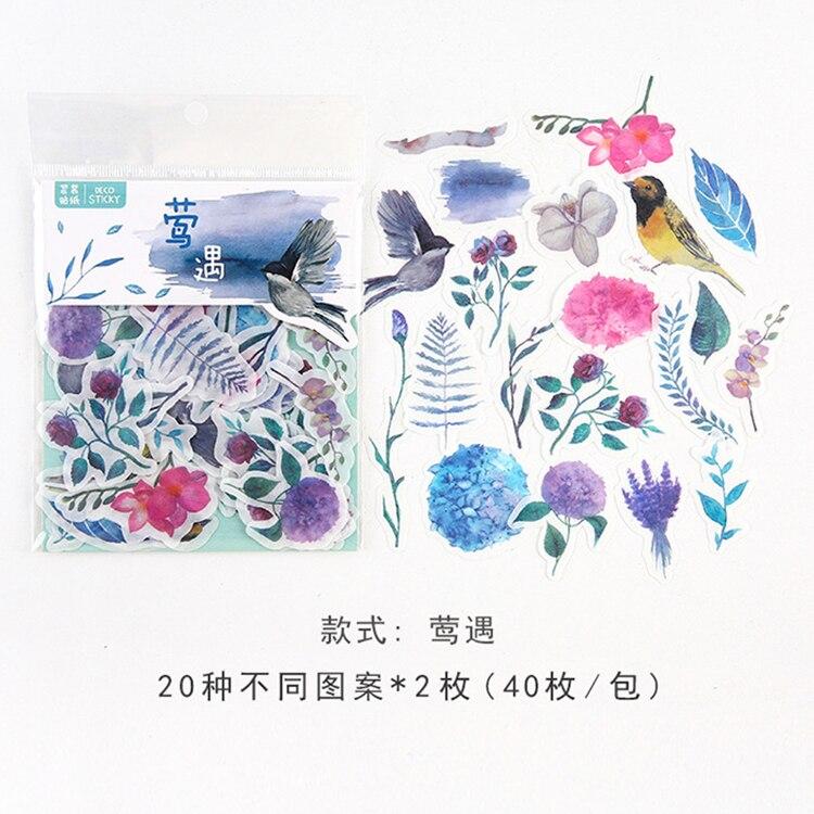 Mohamm кошка цветок дневник деко мини бумага декоративный космический календарь милые наклейки Скрапбукинг журнал хлопья канцелярские товары - Цвет: N