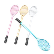 19cm PVC Badminton racket for kids DIY fluffy slime form crystal soil kit clear slime Floam putty cream keyboard Model Clay tool(China)