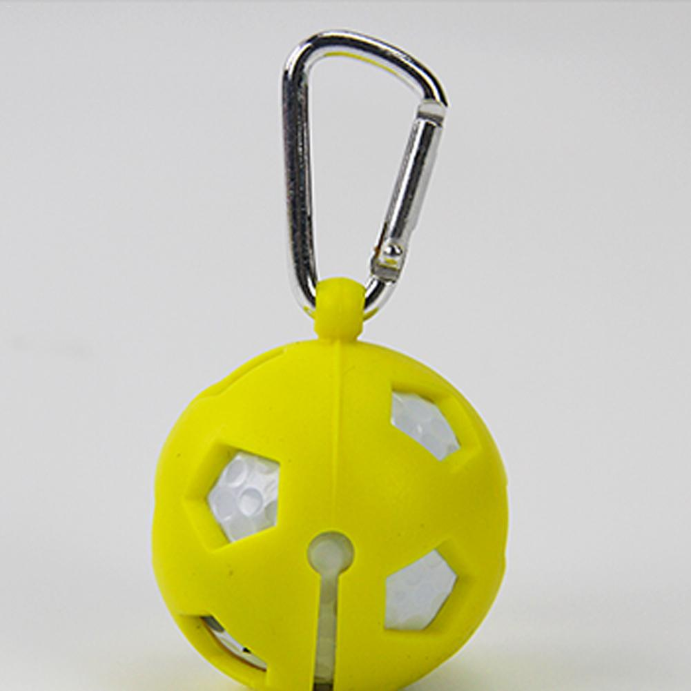 Solo Golf Ball Silicone Sleeve Protective Cover Bag With Carabiner Holder For 1 Ball Golf Accessories Sports Easy To Carry 1 PC