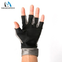 Maximumcatch New One Pair Anti-UV Fingerless Fly Fishing Gloves Outdoor Fishing Gloves