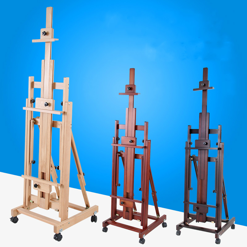 Dual-purpose Easel Caballete Pintura Artist Oil Watercolor Painting Frame Solid Wood Easel Painting Stand Painting Accessories