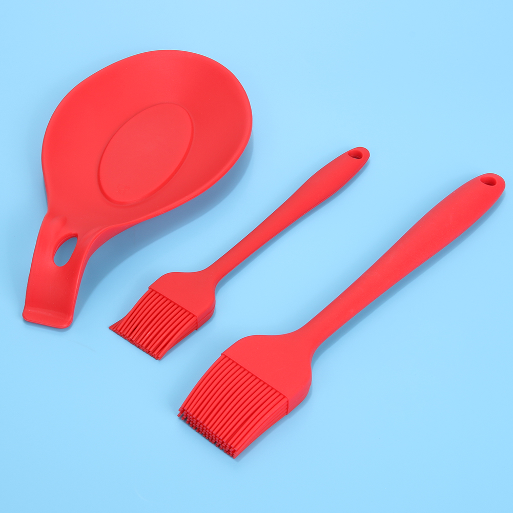 Aliexpress.com : Buy BBQ Set Silicone Spoon Holder+2pcs Cleaning ...