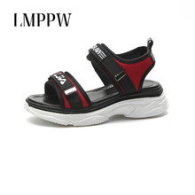 Summer 2019 New Thick-soled Hook&loop Fashion Muffin Sandals Female Shoes Beach Platform Ladies Casual 2A