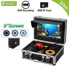 Eyoyo Original 30M Fishing Camera Underwater Fish Finder 9″ LCD Monitor HD 1000TVL Video Camera DVR Video Recording White LED