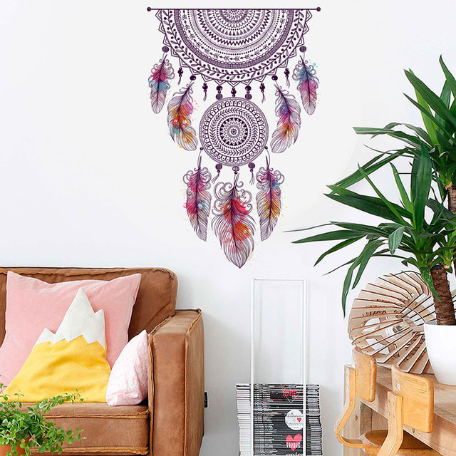 Retro Style Dream Catcher Bedroom Wall Sticker